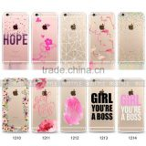 Add your logo transparent case for iPhone 6 cases TPU for iphone case 6 6s colorful mobile phone cases s7 edge case