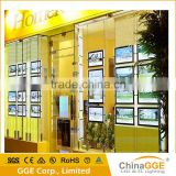 Double Sided Real Estate Agent Window LED Display Magnetic Hanging Backlit Transparent Film Light Box                                                                         Quality Choice