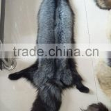 Natural color fur pelt real Silver Fox