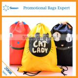 canvas drawstring backpack sport sling bag backpack drawstring
