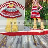 best price xmas tree top & long pants Cheap china wholesale kids clothing baby girls mustard pie remake fall boutique outfits
