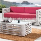 Bamboo rattan sofa set furniture - Poly rattan bamboo sofa set (1.2mm thickness alu frame, high quality wicker furniture)