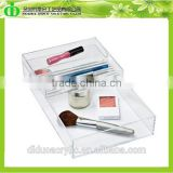 DDN-0063 Trade Assurance Chinese Factory Wholesale SGS Test Clear Acrylic Cosmetic Tools Tray