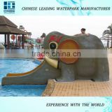2016 hot sale water park children slide animal slide for sale
