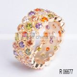 18K gold plating Brazilian jewelry cheap price small MOQ stock jewelry ring
