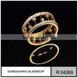 Wholesale pure gold jewelry bezel cups ring export artificial jewelry ring