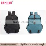 vivisecret Cute Women's Vintage Canvas Satchel Backpack Rucksack Shoulder School Bag Black