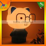 2014 New style! Factory directly sell table Lamp Promotion Gift, Big Glasses Super Cuddly Bear Night Light / Desk Lamp.