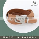 Synthetic suede calfskin belts patchwork leather waistband for man