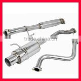 "SINGLE PATH STAINLESS 4"" TIP CATBACK/MUFFLER/EXHAUST SYSTEM FOR 1990-93 FOR HONDA ACCORD"