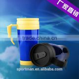 Colorful sublimation mug logo printing coffee cup unbreakable double wall travel mug water glass