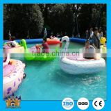 inflatable water pool toys , Vivid animal style used bumper boats for sale , kid electric boat