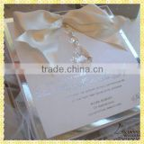 Customized Engraved Glass Bride Groom Invitation Cards For Wedding Guest Souvenir Gifts