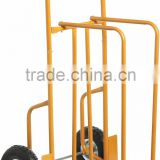 "Hand Trolley WHEEL:two 10X3.00-4 Pneumatic wheels,with zinc steel rim,two 4"" castor wheels"