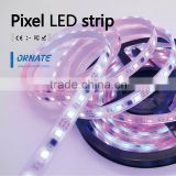 addressable IC led RGB flex strip silicon tube IP66/IP67/waterproof 5050 dreamful color 30/60leds per meter digital led strip