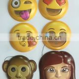 High Quality Plastic PVC Mask Emoji Smiley Emoticon Fun Ultra Alsino Suitable for Adults and Teenagers with Elastic Fastening wi