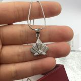 Sterling Silver 925 fine fashion jewelry new style crown sets pendant ring earring Rhodium plated  High Quality