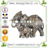 2015 chinese factory custom made handmade carved hot new products Resin elephant figurines collectible