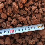 Fireproofing Volcanic Lava Rock Red Thermal Insulation 10 - 20cm