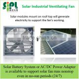 Solar Panel Powered Brushless DC Motor Direct Driven No Leather Belt Box Air Exhaust Fan Wall Mounted