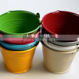 Garden pot & planters 7cm zinc plant pots metal mini galvanized bucket for flower decorative flowerpot macetas
