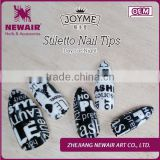 New arriva stiletto Abs nails best acrylic nail brand day for night dtyle stiletto full nail tips