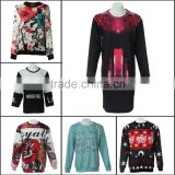 2015 novelty christmas jumpers custom womens christmas sweatshirt full sublimation printing