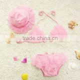 Fashion Three-piece Cute Lace Baby Bikini