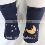 Children cute socks baby AB kids cloud moon socks baby rubber slip-resistant floor socks