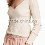 Runwaylover Hot sale cheap o neck women breathable cotton long skin tight long sleeve t shirt