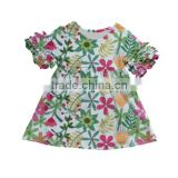 Hot popular kids girls new brand name casual cotton baby girl frock designs dress