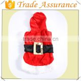 Wholesale Pet Puppy Dog Christmas Clothes Santa Claus Costume Outwear Coat Apparel Hoodie