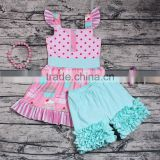Cute Baby Girls Princess Party Wear Sweet Smocked Dress Icing Shorts Boutique Outfits Daily Casual Clothes