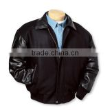 varsity jacket with leather for men,wholesale leather jackets for men