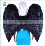 Adult Party Costume Large Black Feather Angel Wings HPC-0856