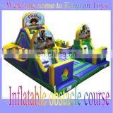 China pirate inflatable interactive obstacle game