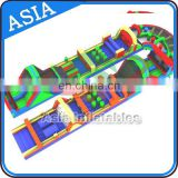 Giant Outdoor Inflatable Obstacle Course Equipment For Adults And Children