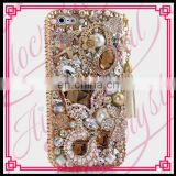 Aidocrystal Hot Sale Gold Luxury Design Rhinestone Crystal Covers Ladies Cell phone Cases for iphone 6 plus