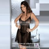 Seduction Black sexy Fashionable Lingerie Beautyslove Sheer Sleepwear Opaque Cup Morden Nightwear babydoll