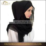 New design hijab plain color islamic women head cover high quality chiffon hijab square scarf