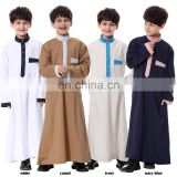 In stock Simple But Nice new arrival kids Long Sleeve muti-colors Kaftan Dress latest jilbab abaya In Stock