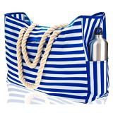 Soft rope handle waterproof canvas beach bag from China