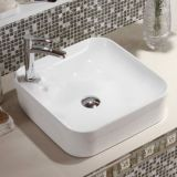 2018 new good sale thin square white wash basin