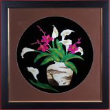 room Ornament pendant painting straw painting, business gift straw painting  chinese handicraft art