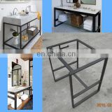30 inch black steel vanity base frame