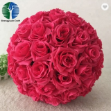 best artificial rose flower ball silk decoration