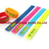 Colored Hook And Loop Cable Ties Nylon Band With Buckle