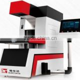 Dongguan Glorystar laser marking and engraving machine GLD-350W work onJeans,footware, garment with CE SGS