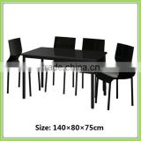 Modern Design Black High Gloss MDF Furniture Board Dining Room Set