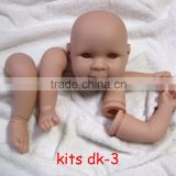 Wholesale reborn doll kits 18 inch vinyl doll kits soft silicone reborn baby doll kit